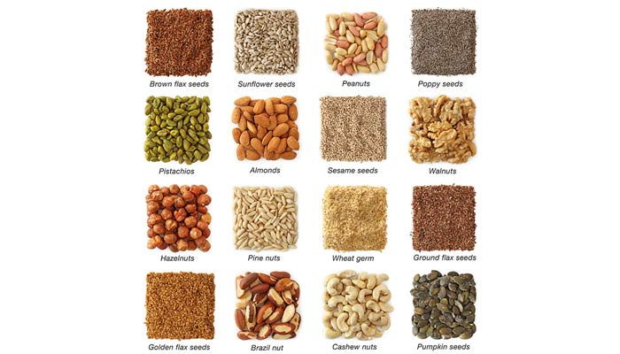 Healthy Sources Of Fat - Almonds, Nuts and Seeds