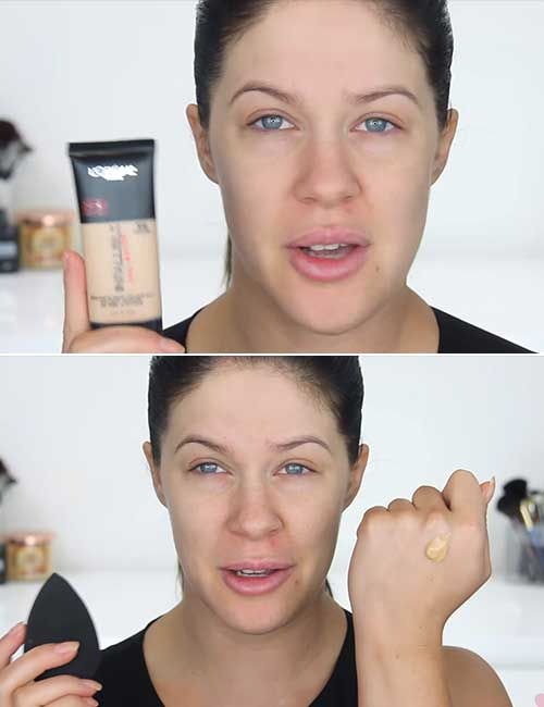 Makeup For Oily Skin - Apply Your Foundation