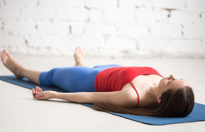 Shavasana To Cure Neck Pain - Yoga