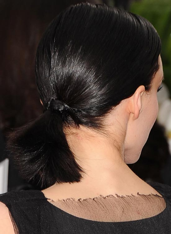 Black Low Base Tied Up Ponytail
