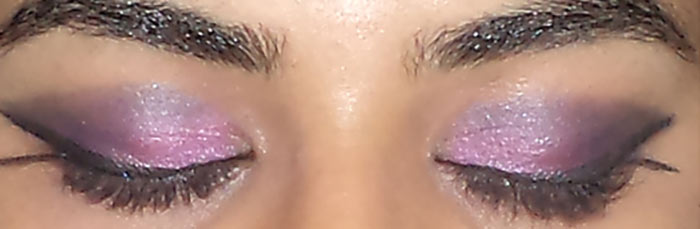 Pink And Purple Eye Makeup Tutorial - Step 10: Blend Black Into The Crease