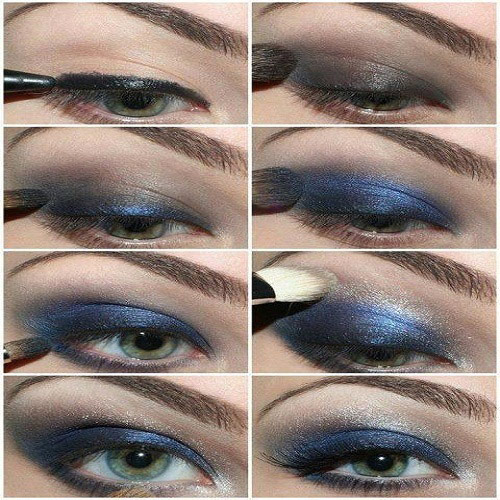 Blue Smokey Eye Makeup Tutorial