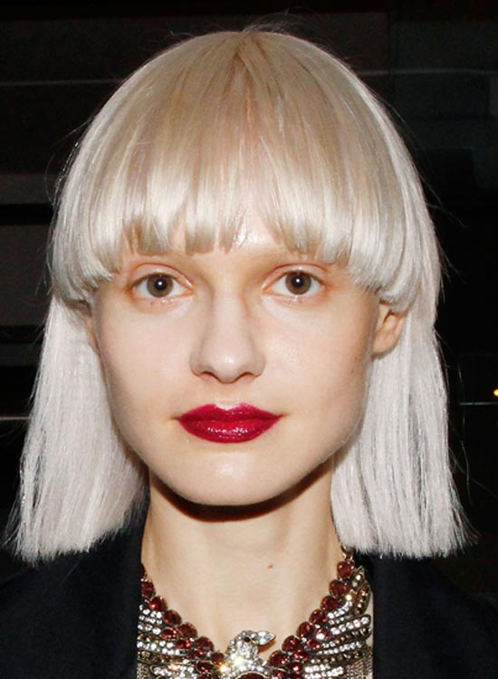 Blunt Bob with Edgy Fringes
