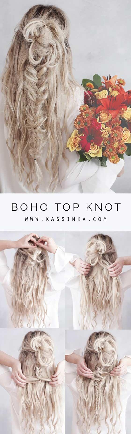 Boho-Top-Knot