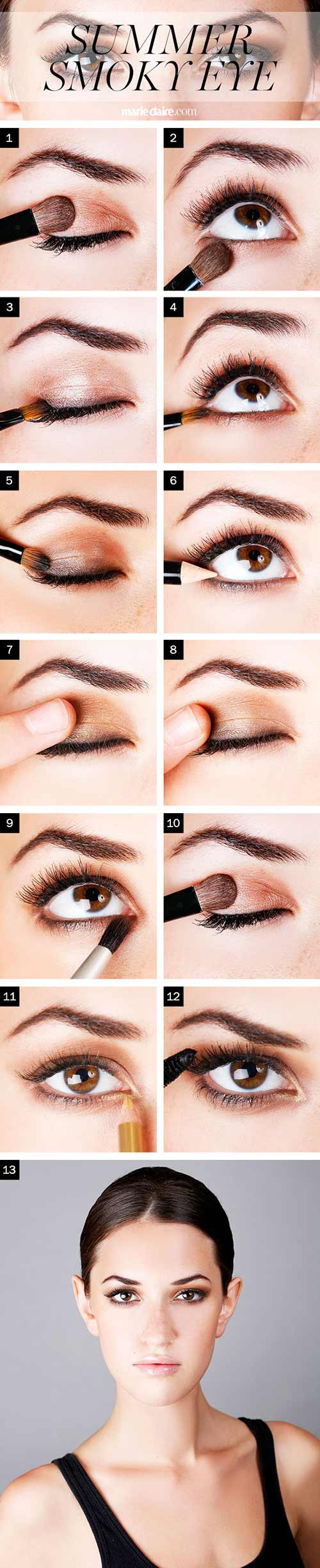 How to do smokey eye makeup top 10 tutorial pictures for 2018 bronze smokey eye makeup tutorial baditri Gallery