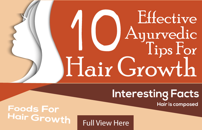 Ayurvedic Tips For Hair Growth - InfoGraphic Image