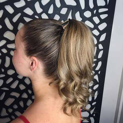 Curly-Ended High Ponytail