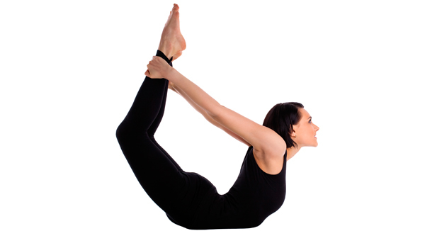 Dhanurasana for yoga exercise