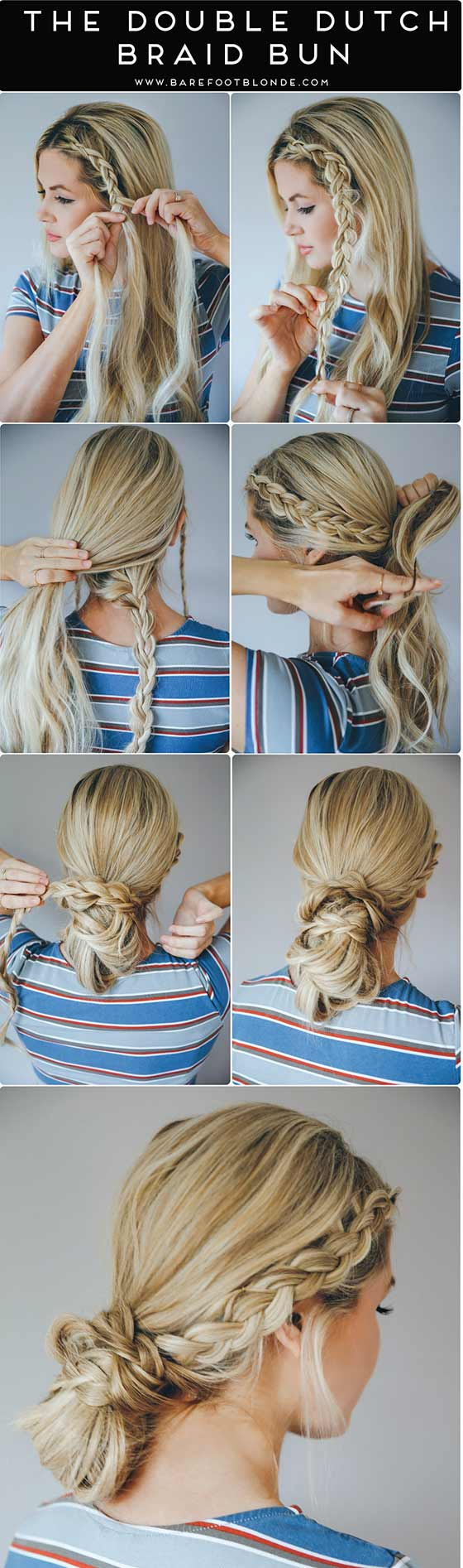 Double-Dutch-Braid-Bun
