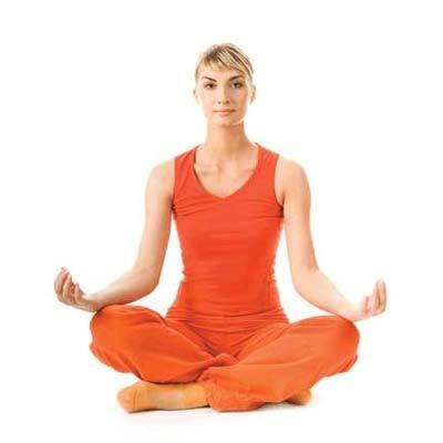 Sukhasana for neck pain