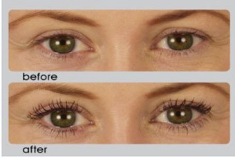 false eyelashes before and after