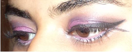 Final look eye makeup