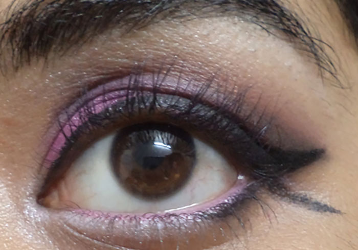 Pink And Purple Eye Makeup Tutorial - Step 14: Highlight Your Brow Bone