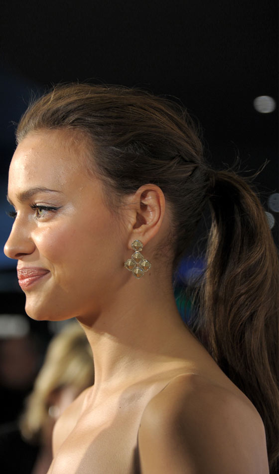 Irina Shayk's Tight Long Ponytail