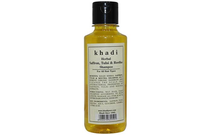 Khadi Herbal Saffron, Tulsi & Reetha Shampoo
