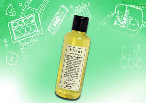 khadi herbal saffron tulsi & reetha shampoo