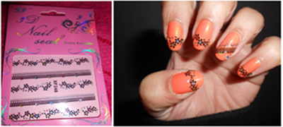 lace nail art stickers