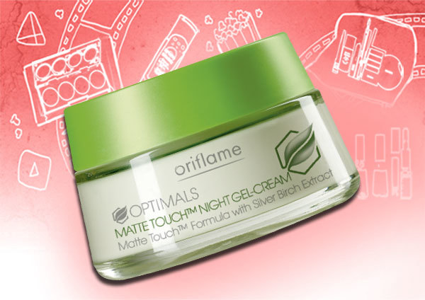 oriflame optimals matte touch night gel creme