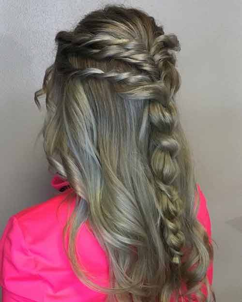 Multi-Twist Half Updo