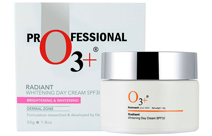 O3+ Radiant Whitening Day Cream SPF 30 - Best Fairness Creams For Oily Skin