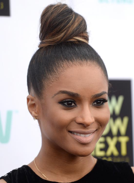 Ombre-Top-Knot