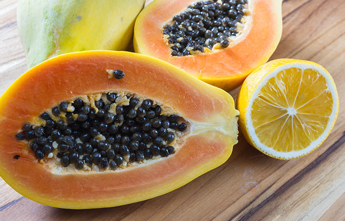Papaya-And-Lemon-Face-Pack-For-Skin-Brightening
