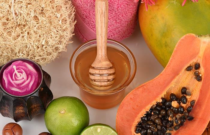 Papaya,-Honey,-And-Lemon-For-Acne