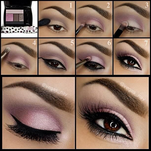 Pink and Grey Smokey Eye Makeup Tutorial