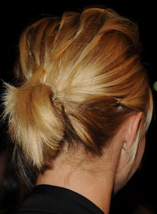 Pinned Back Short Medium Base Ponytail