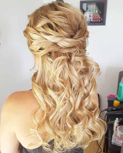 Pretty Twisted Half Updo