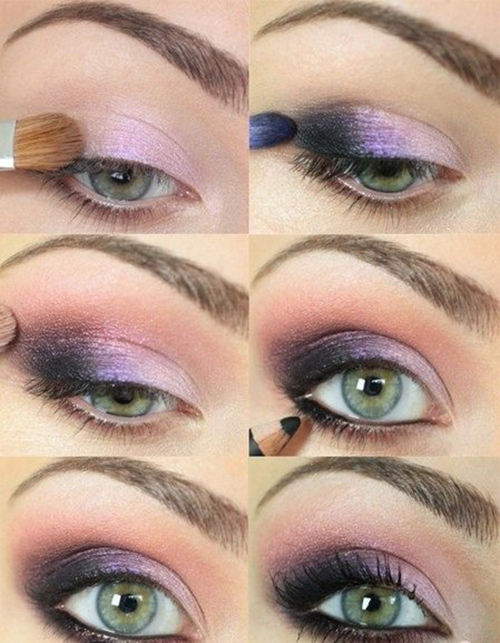 Purple Smokey Eye Makeup Tutorial