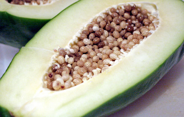 raw papaya for pimples