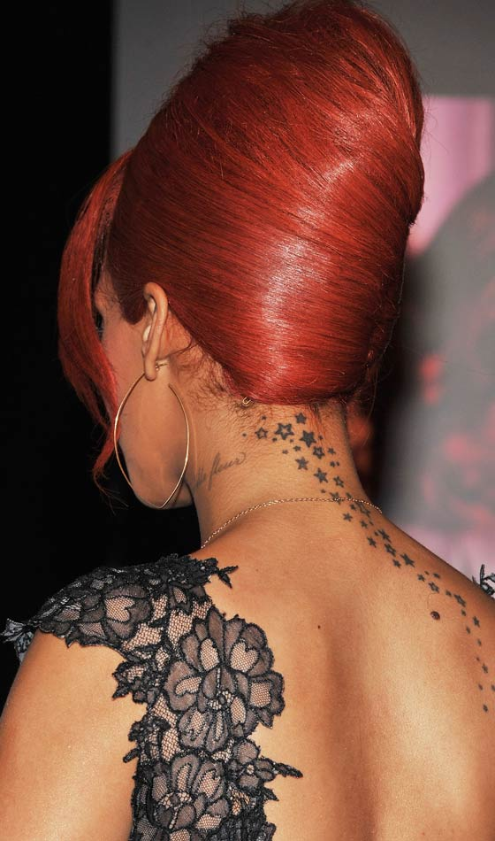 Rihanna's High Beehive French Bun