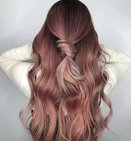 Rose Gold Half Updo