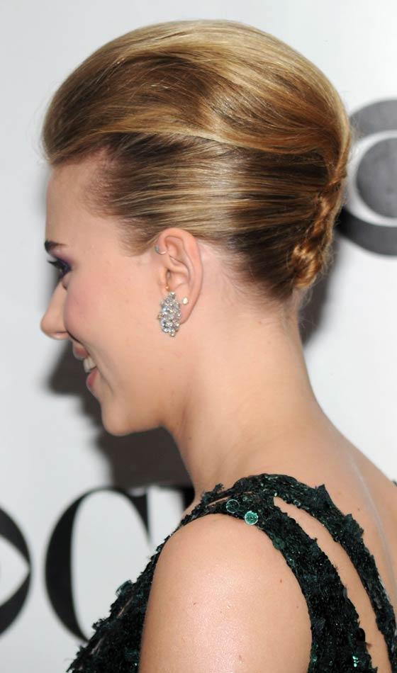 Scarlett Johnson's Subtly Puffed French Bun