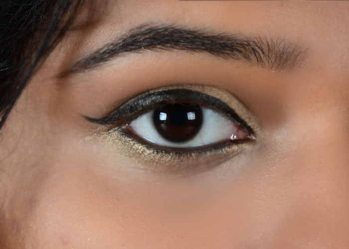 Gold Eye Makeup Tutorial - Step 7: Create An Intense Look With Kajal