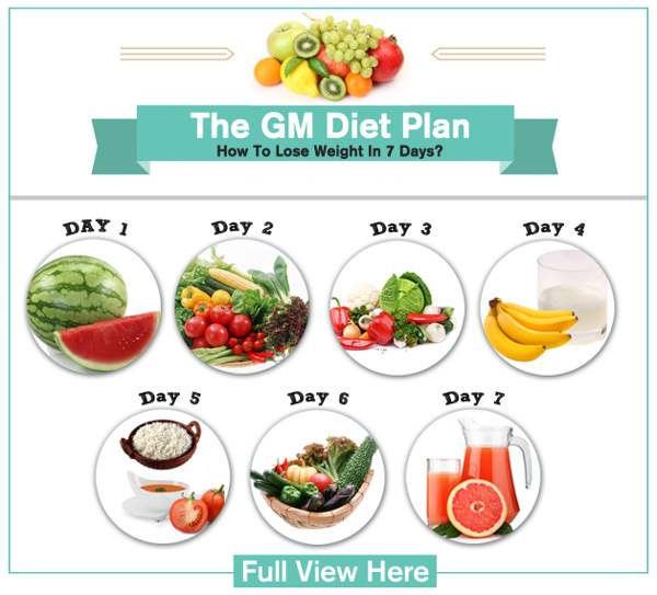 The Gm Diet Plan How To Lose Weight In Just  Days