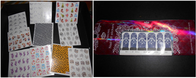 water slide nail stickers or water decals