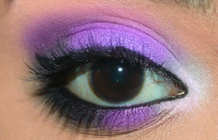 Purple And White Eye Makeup Tutorial - Step 6: Final Look