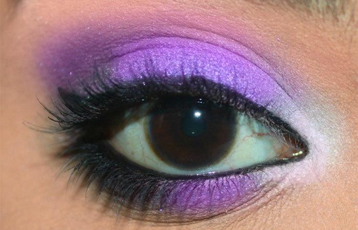 Фиолетовый Макияж Глаз-Окончательный Вид