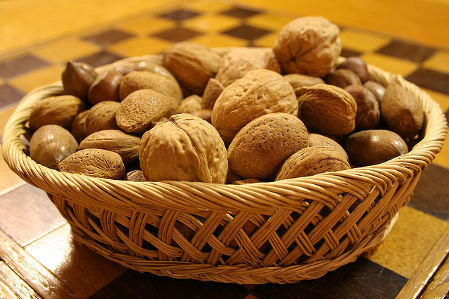 almond and walnut for glowing skin