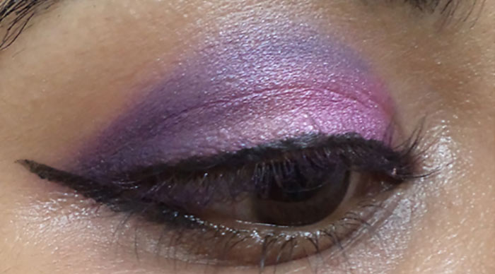 Purple Eye Makeup -  Line Your Upper Lash Line