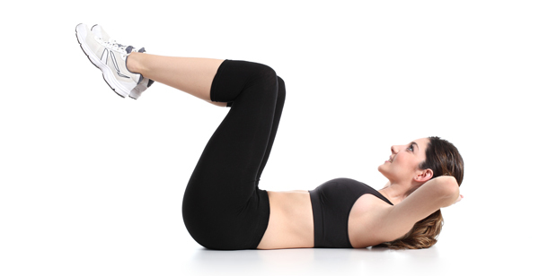 flat belly exercises for women at home