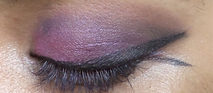 Purple Eye Makeup - Add Pink Above the Crease