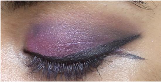 dab pink eye makeup