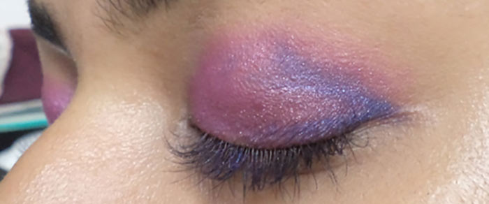 Pink And Purple Eye Makeup Tutorial - Step 5: Apply Blue Shade