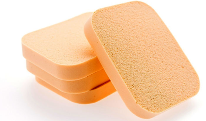 foundation on a makeup sponge