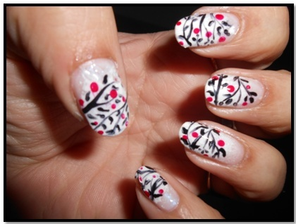 Black and White Nail Art Designs - freehand nail art