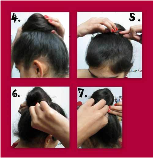 top knot hairstyle how to