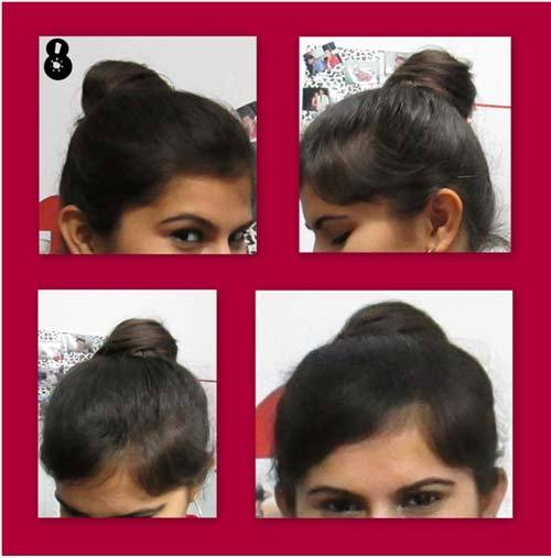 make top knot hairstyle